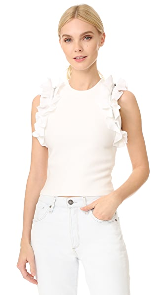 3.1 Phillip Lim Solid Ruffle Sport Tank with Zippers at Shopbop