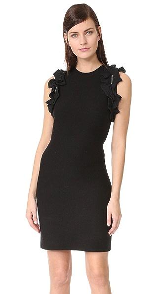 3.1 Phillip Lim Solid Ruffle Tank Dress In Black