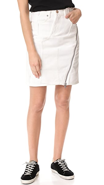 3.1 Phillip Lim Zipper Skirt - Bleached