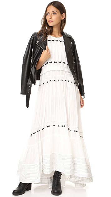 3.1 Phillip Lim Pintuck Gown with Silk Ties