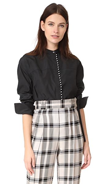 3.1 Phillip Lim Blouse with Imitation Pearls at Shopbop