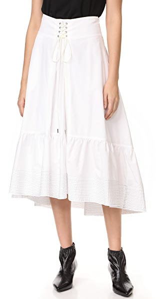 3.1 Phillip Lim White Skirt with Victorian Waist