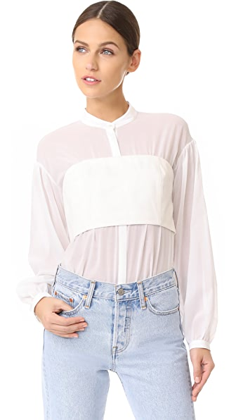 3.1 Phillip Lim Long Sleeve Corset Top at Shopbop