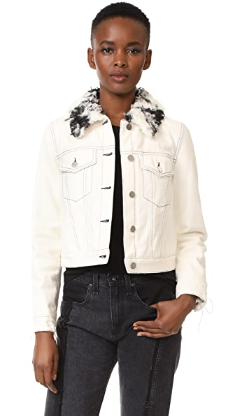 3.1 Phillip Lim Denim Jacket with Sherpa Collar