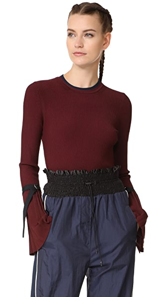 3.1 Phillip Lim Pleated Pullover - Burgundy
