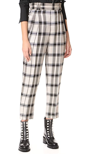 3.1 Phillip Lim Check Pants with Side Ties at Shopbop