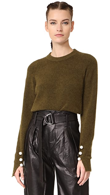 3.1 Phillip Lim Pullover with Imitation Pearl Cuffs