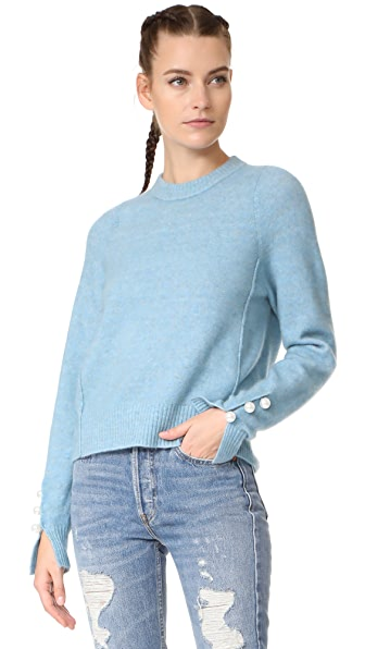 3.1 Phillip Lim Pullover with Imitation Pearl Cuffs at Shopbop