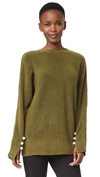 3.1 Phillip Lim Sweater with Back V - Green