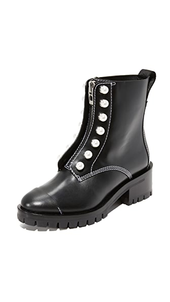 3.1 Phillip Lim Lug Sole Boots In Black