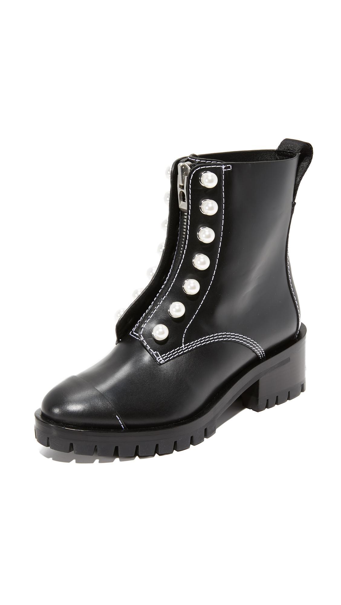 3.1 Phillip Lim Hayett Lug Sole Pearl Boots - Black