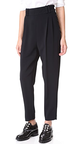 3.1 Phillip Lim Tailored Pants with Side Buttons - Black