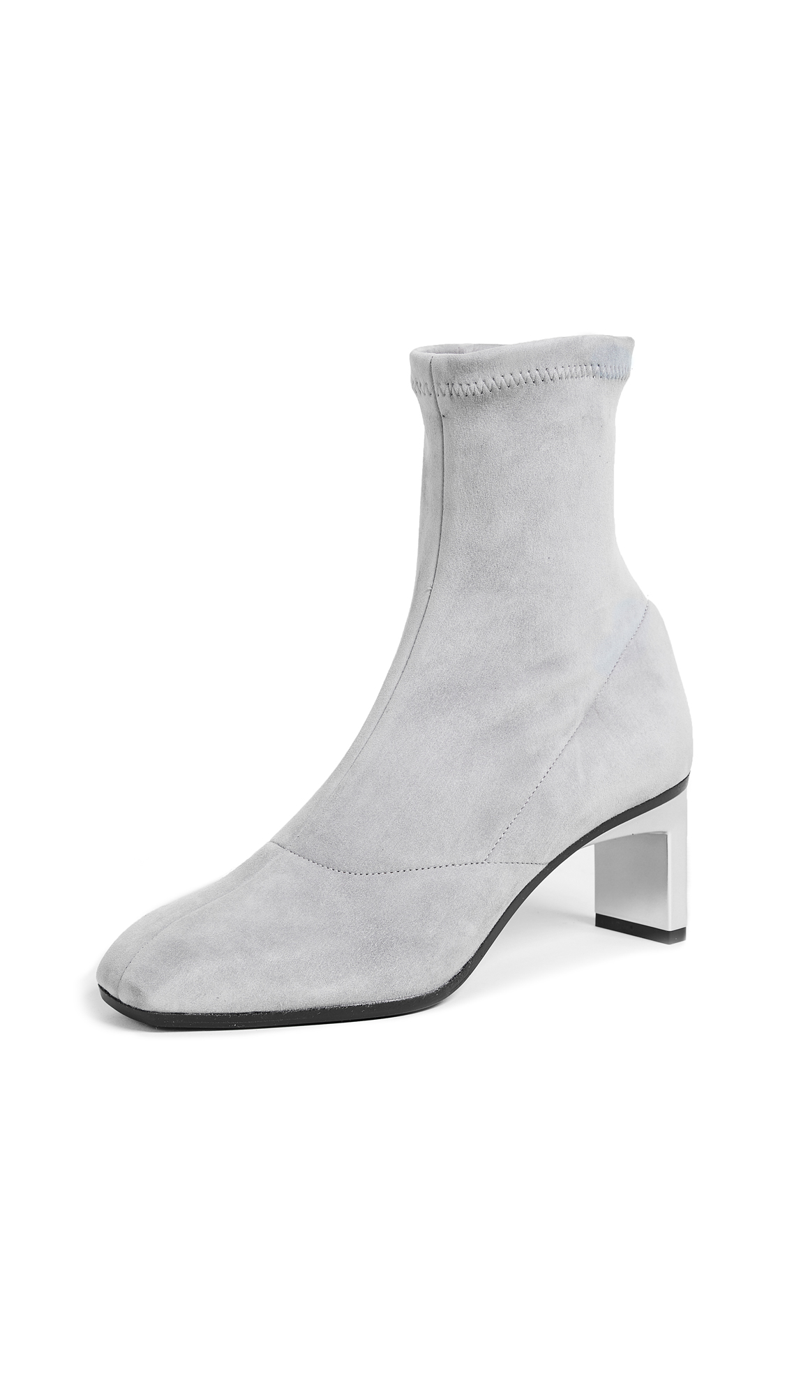 3.1 Phillip Lim Blade Ankle Booties - Fog