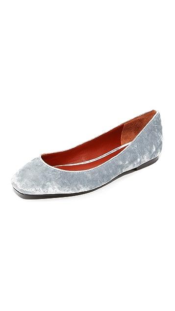 3.1 Phillip Lim Square Toe Ballet Flats