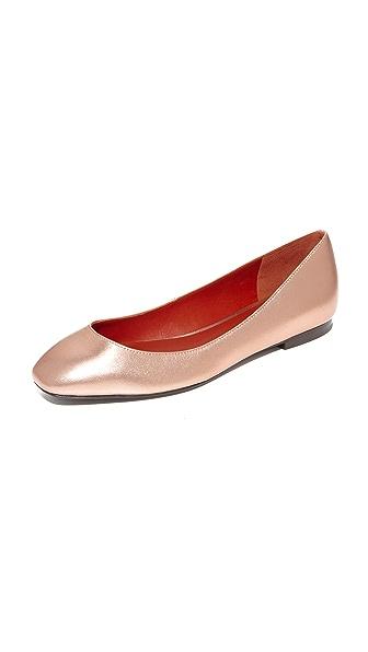 3.1 Phillip Lim Square Toe Ballet Flats - Rose Gold