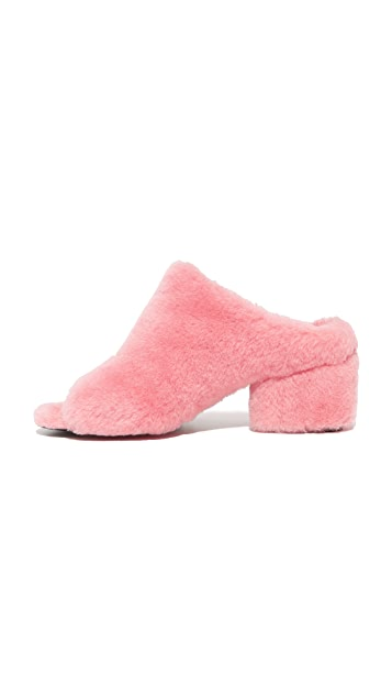 3.1 Phillip Lim Cube Shearling Mules