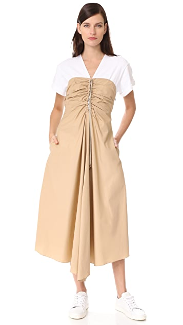 3.1 Phillip Lim Cap Sleeve Gathered Front Dress