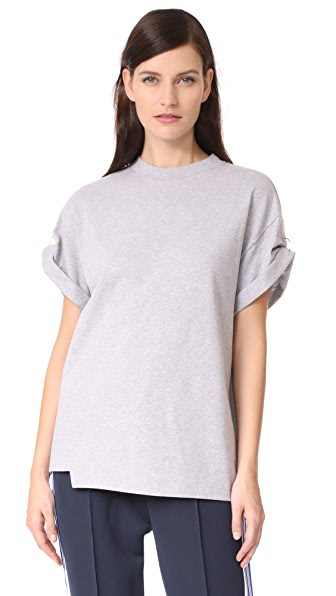 3.1 Phillip Lim Pierced Sleeve Top - Grey Melange