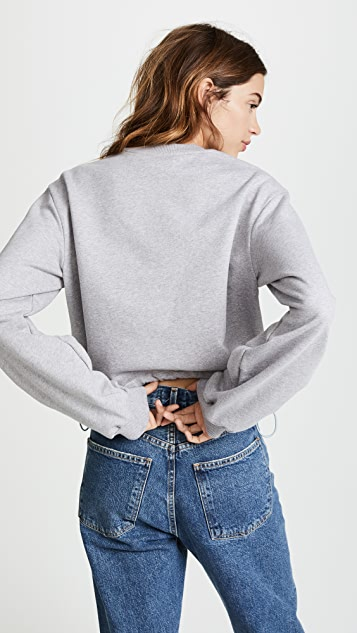 3.1 Phillip Lim Long Sleeve Pullover with Pierced Sleeve