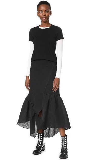 3.1 Phillip Lim Skirt with Asymmetrical Hem