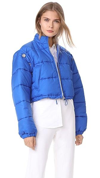 3.1 Phillip Lim Puffer Ski Coat In Electric Blue