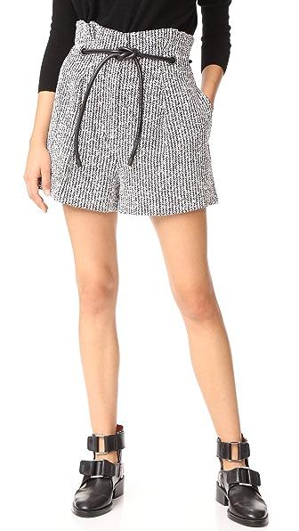 3.1 Phillip Lim Origami Shorts In Black/White