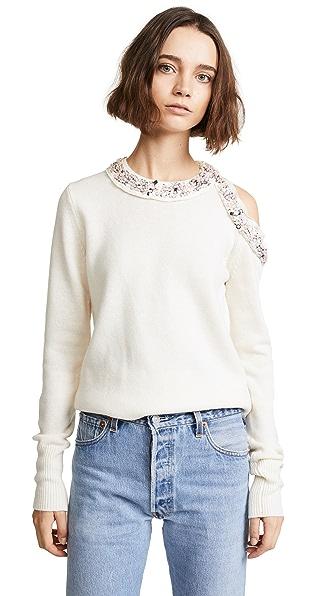 3.1 Phillip Lim Long Sleeve Embellished Pullover at Shopbop