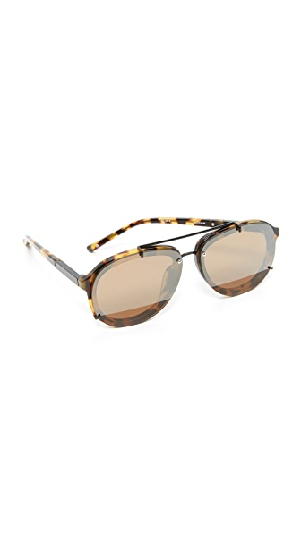 3.1 Phillip Lim Mirrored Aviator Sunglasses - Tortoise/Black