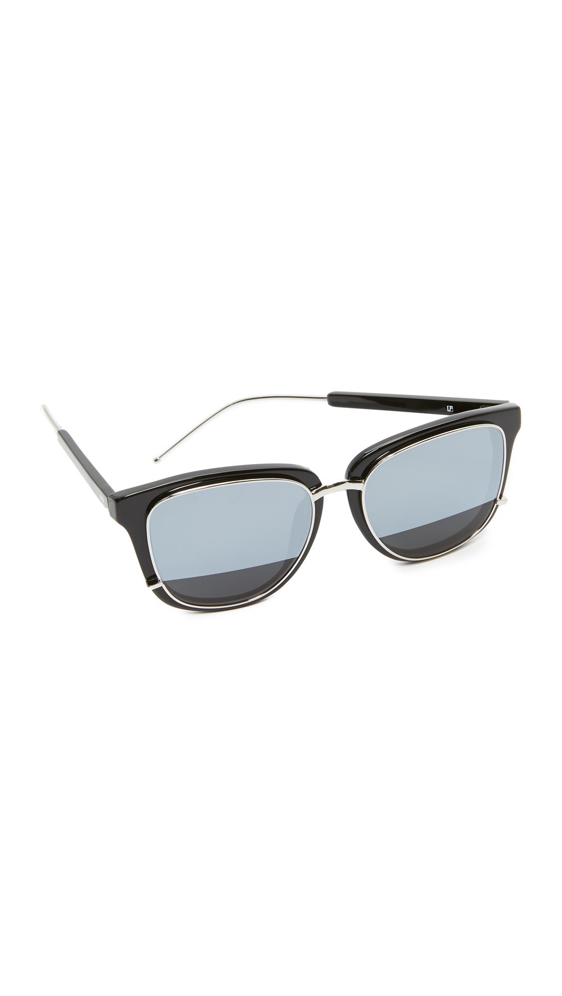 3.1 Phillip Lim Mirrored Sunglasses - Black/Silver
