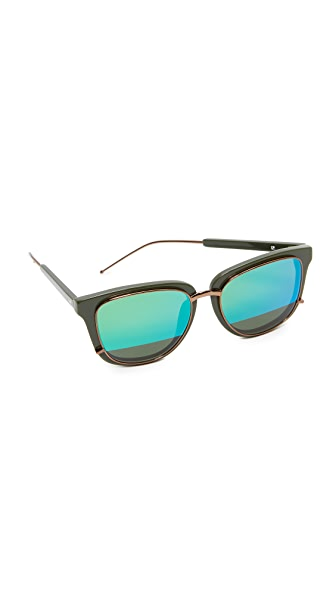 3.1 Phillip Lim Mirrored Sunglasses - Hunter/Green
