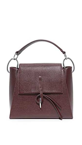 3.1 Phillip Lim Leigh Top Handle Satchel - Oxblood