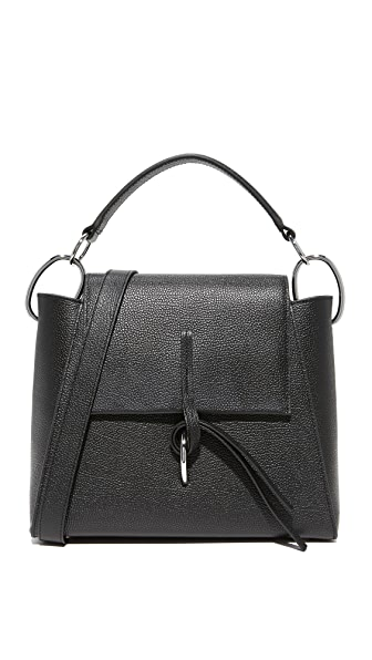 3.1 Phillip Lim Leigh Top Handle Satchel In Black