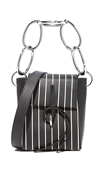 3.1 Phillip Lim Leigh Small Top Handle Bag with Chain - Black/White