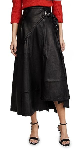 3.1 Phillip Lim Utility Leather Skirt