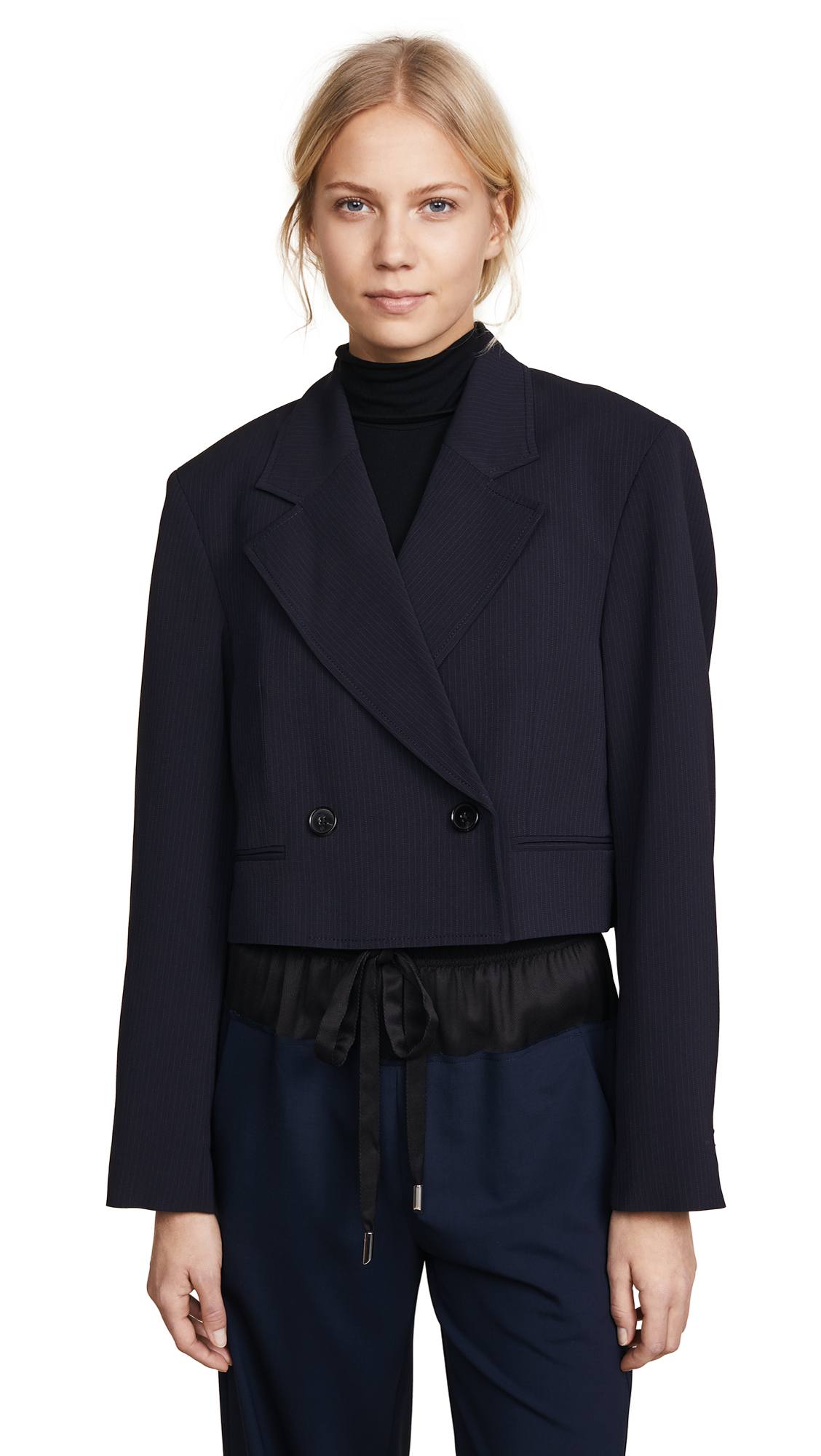 6cd2628adf1af4 3.1 Phillip Lim Pinstripe Tailored Blazer In Midnight Ivory