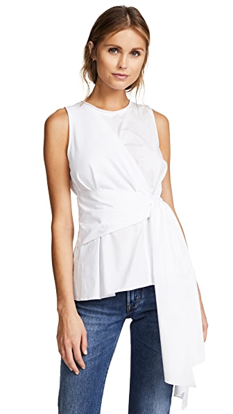 3.1 Phillip Lim Sleeveless Twist Front Tank at Shopbop