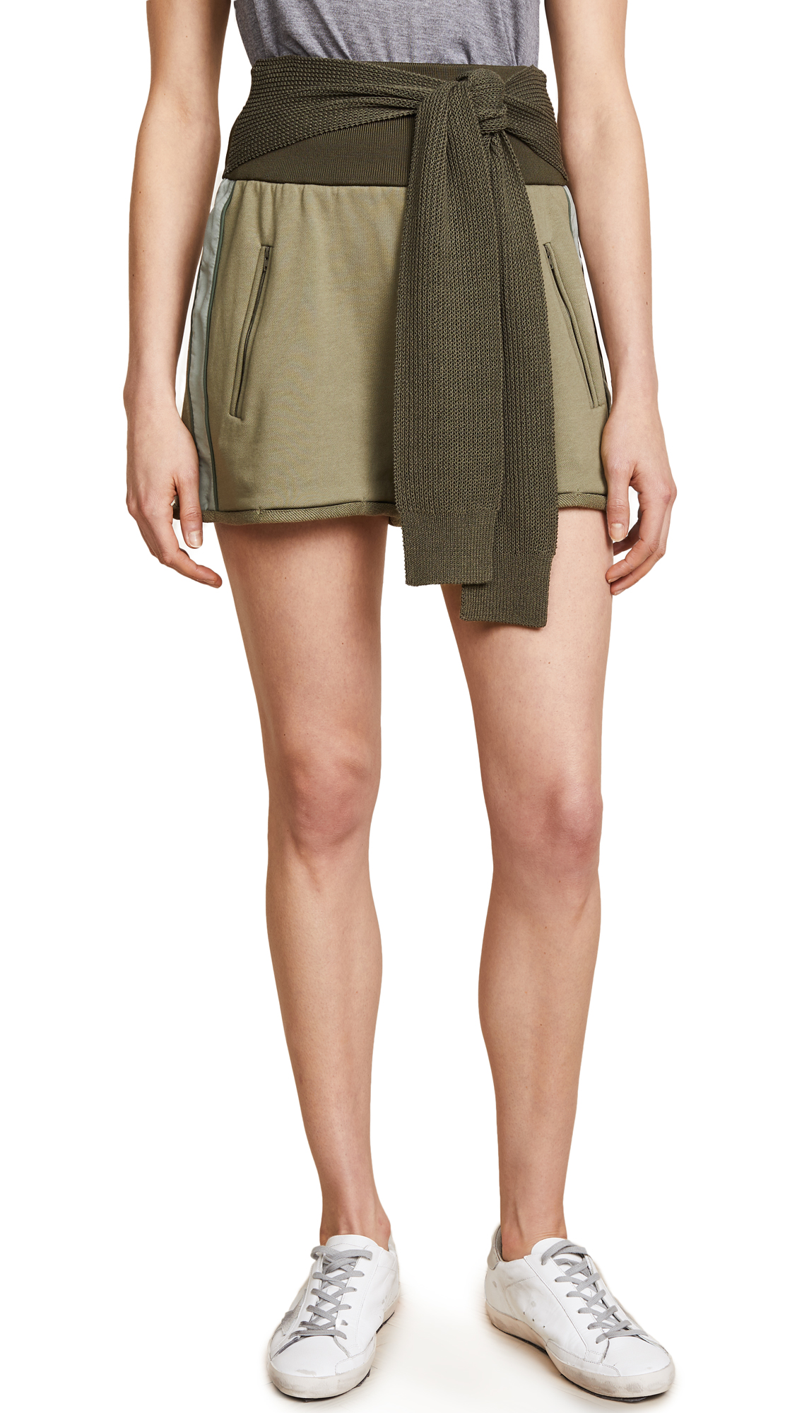 3.1 Phillip Lim Shorts with Tie In Moss