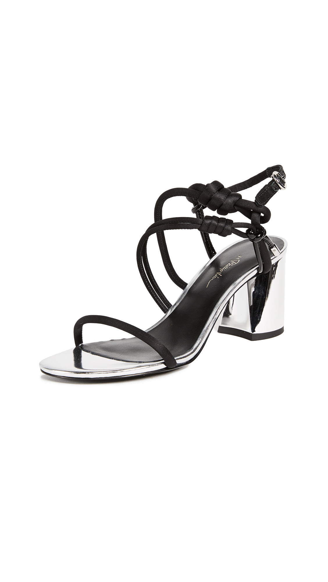 3.1 Phillip Lim Drum Sandals - Black/Silver