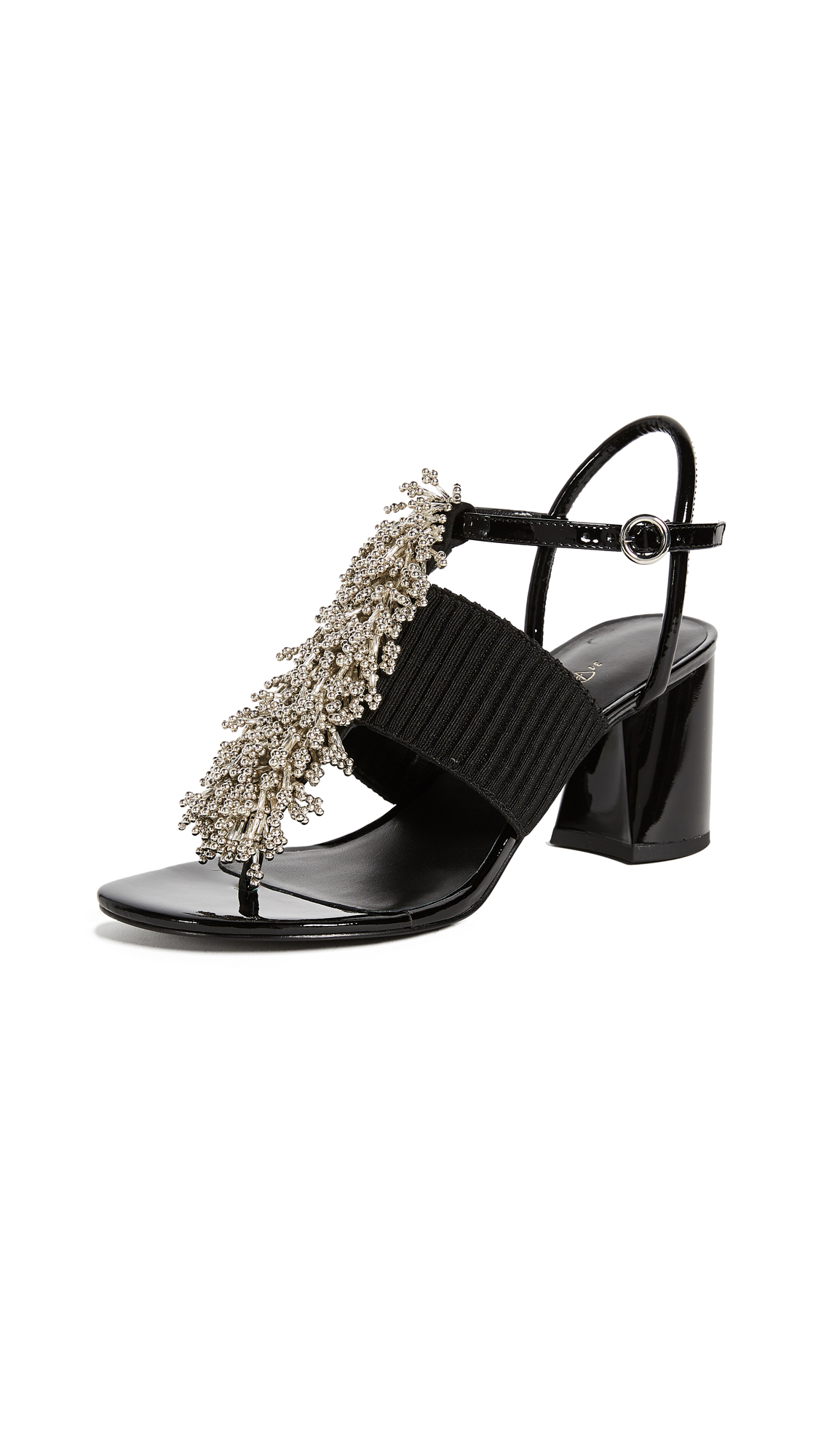 3.1 Phillip Lim Drum Beaded Sandals - Black