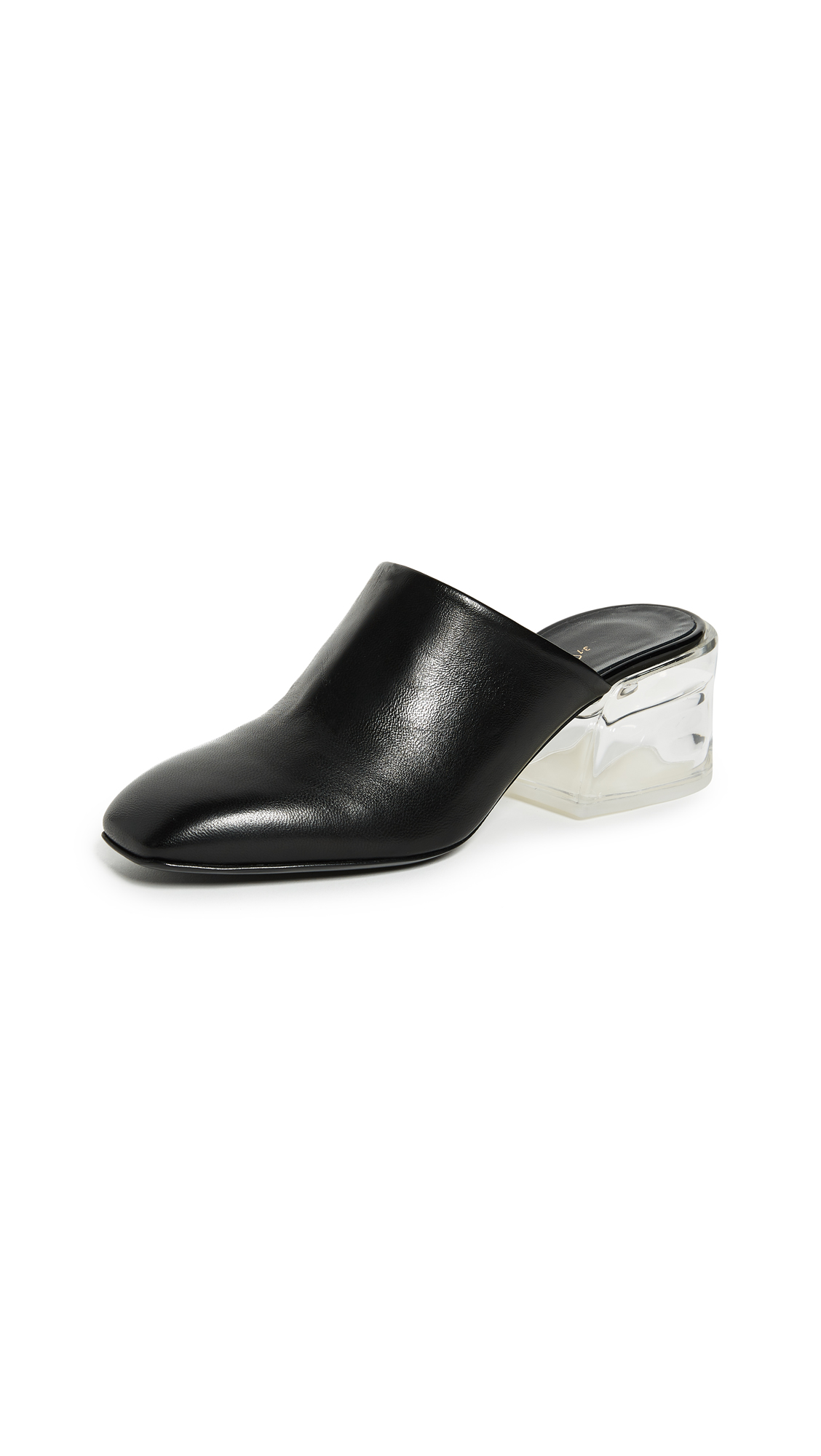 3.1 Phillip Lim Closed Toe Mules - Black