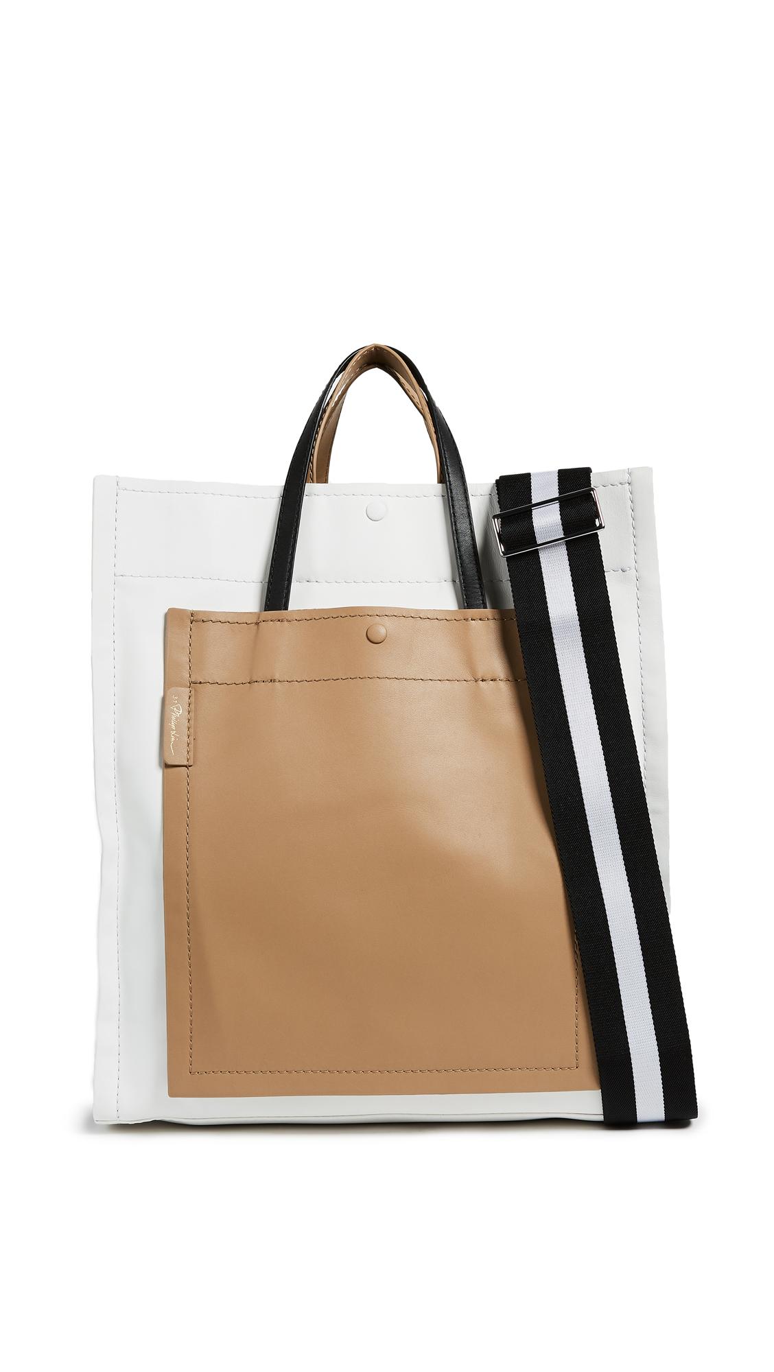 3.1 Phillip Lim Accordion Shopper - Natural