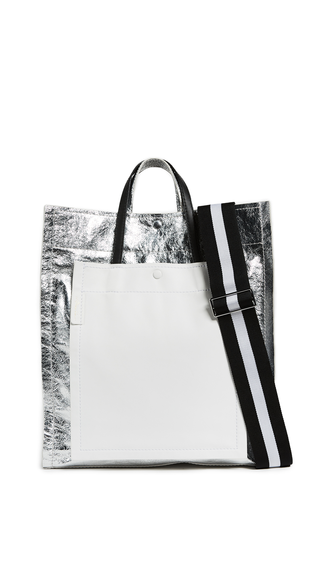 3.1 Phillip Lim Accordion Shopper - Silver
