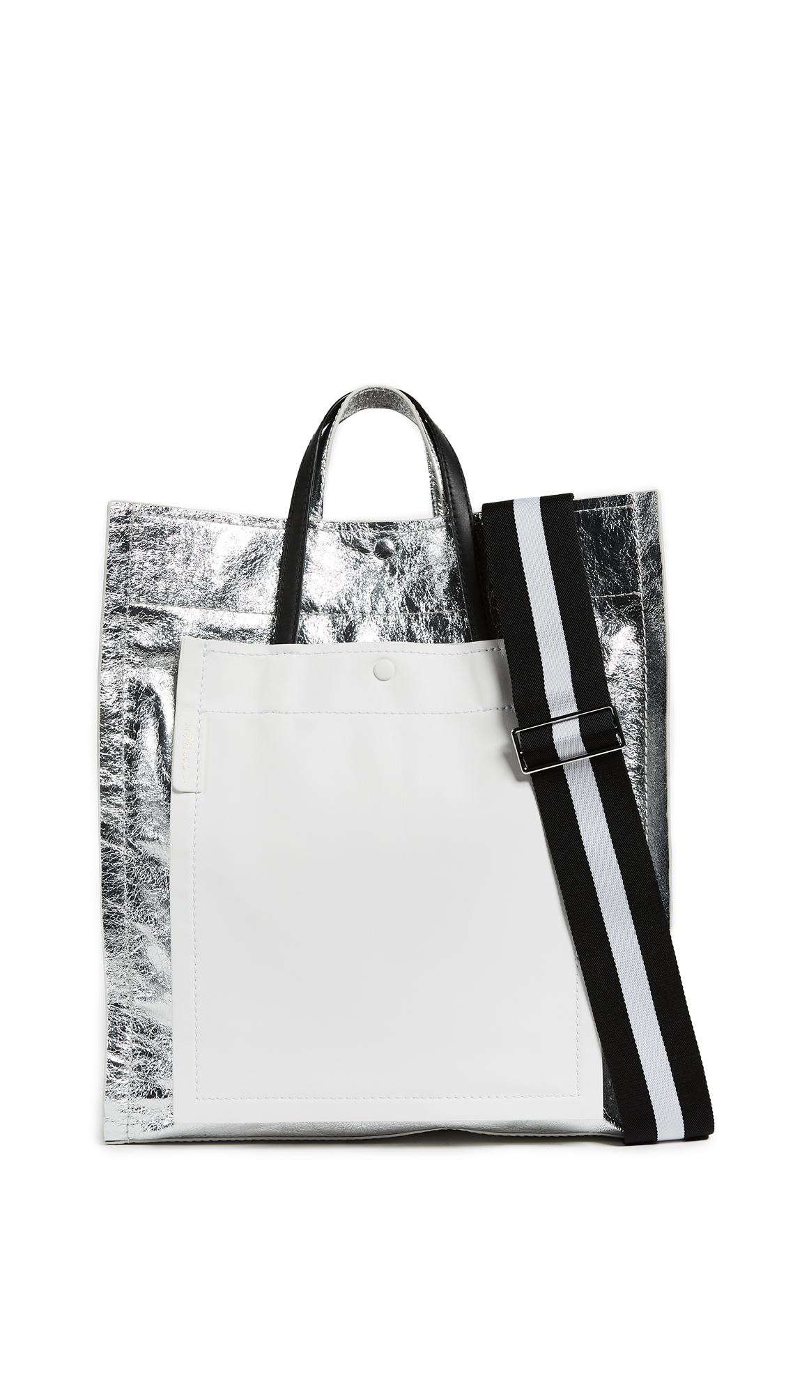 3.1 Phillip Lim Accordion Shopper - Silver
