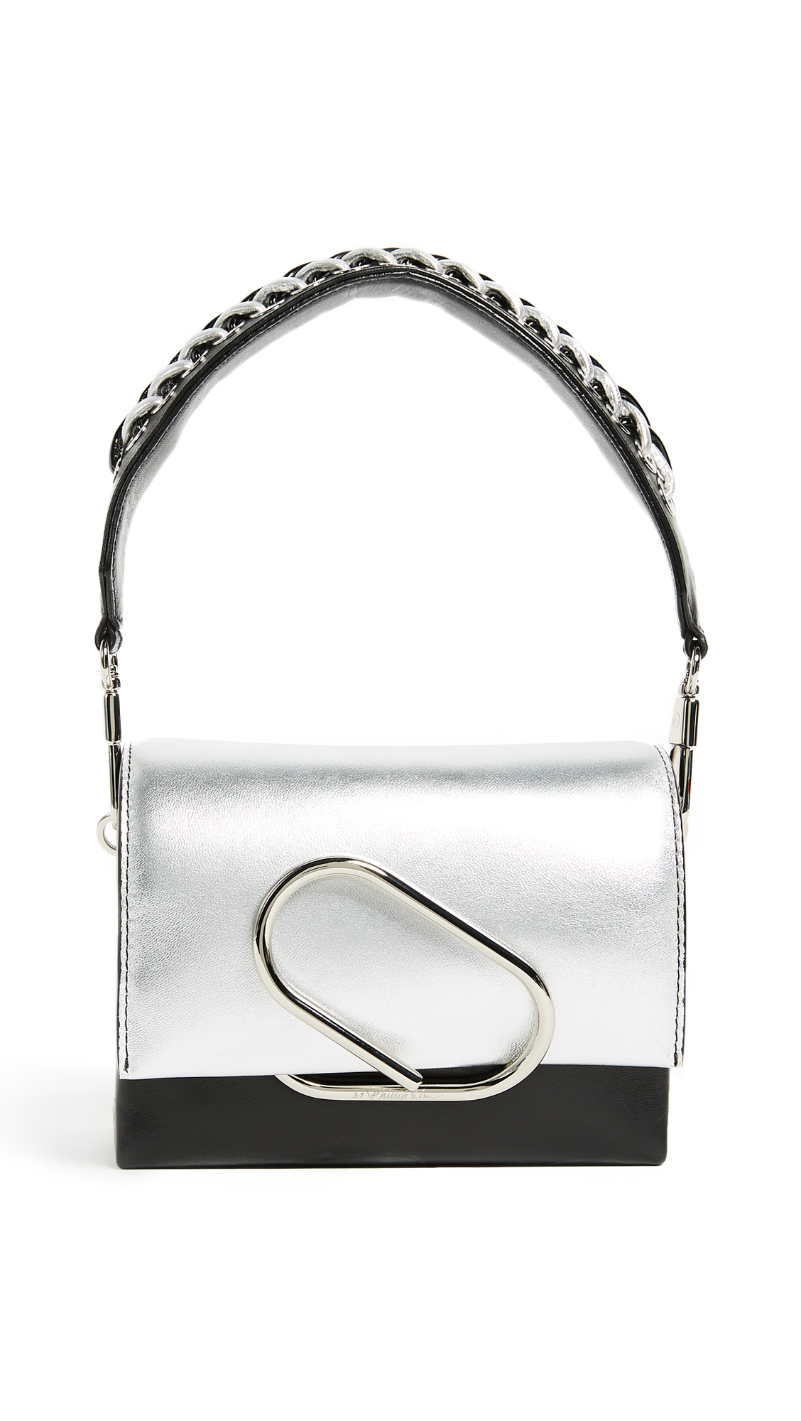 3.1 Phillip Lim Alix Micro Sport Cross Body Bag - Silver/Black