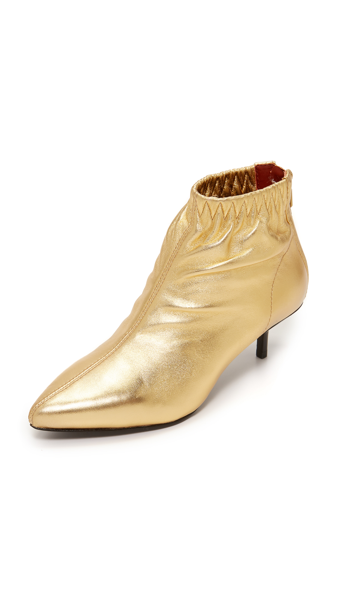 3.1 Phillip Lim Blitz Kitten Heel Booties - Gold