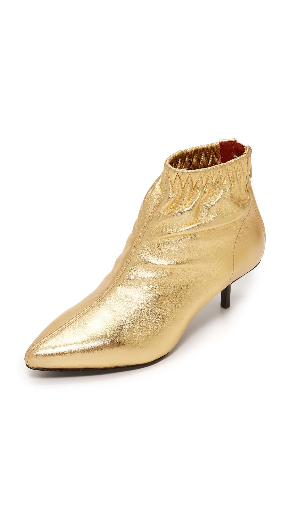 3.1 Phillip Lim Blitz Kitten Heel Booties - Gold