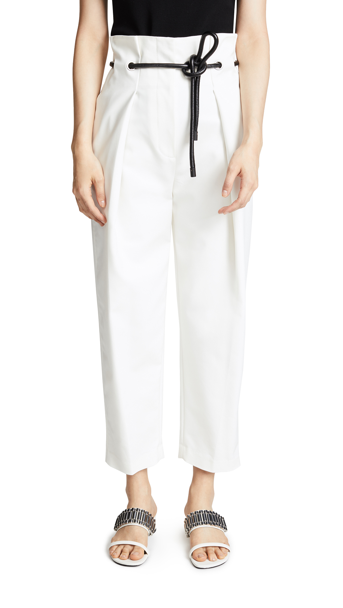 3.1 Phillip Lim Origami Pants - Antique White
