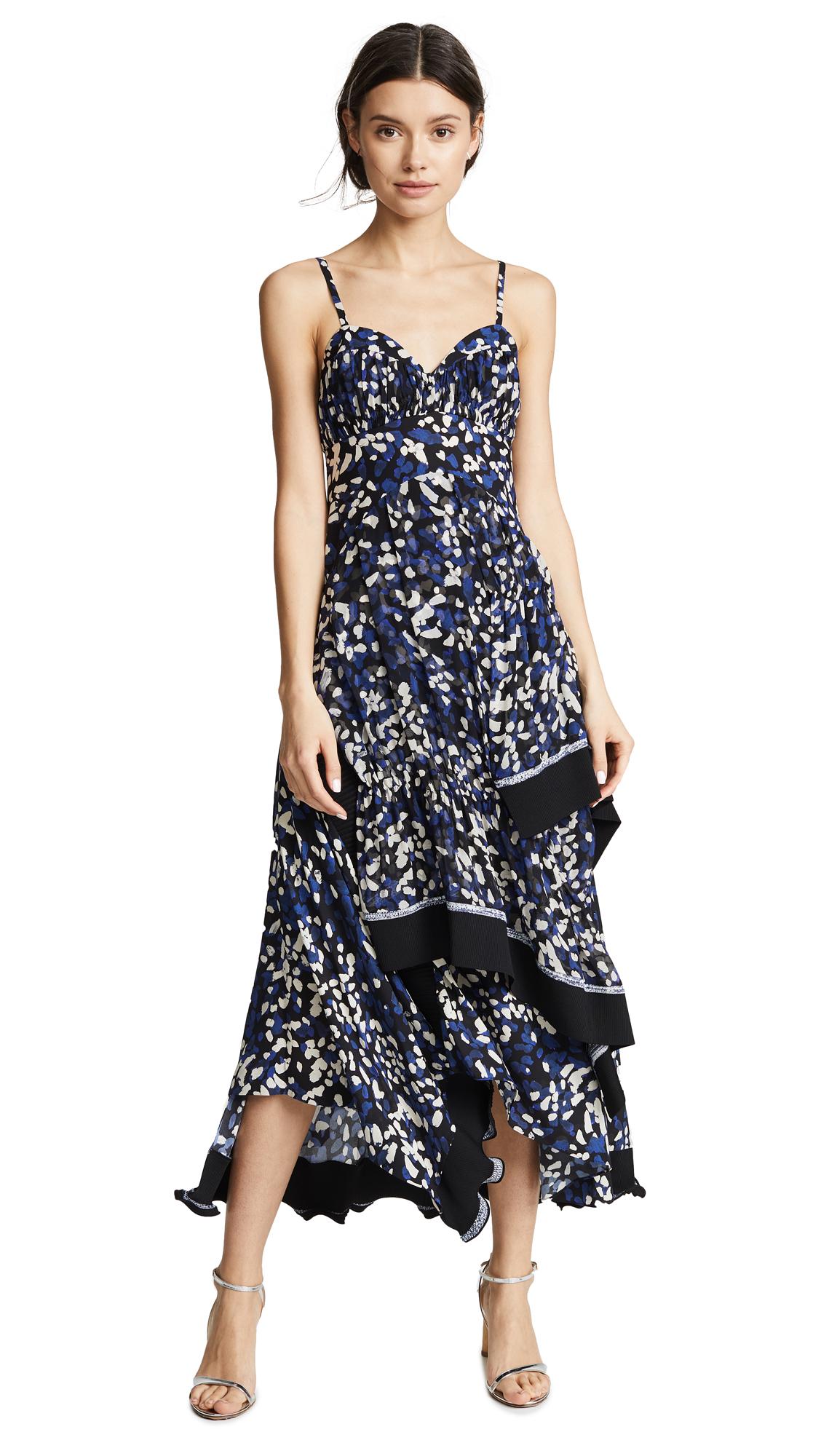 3.1 Phillip Lim Painted Dot Dress In Black/Blue
