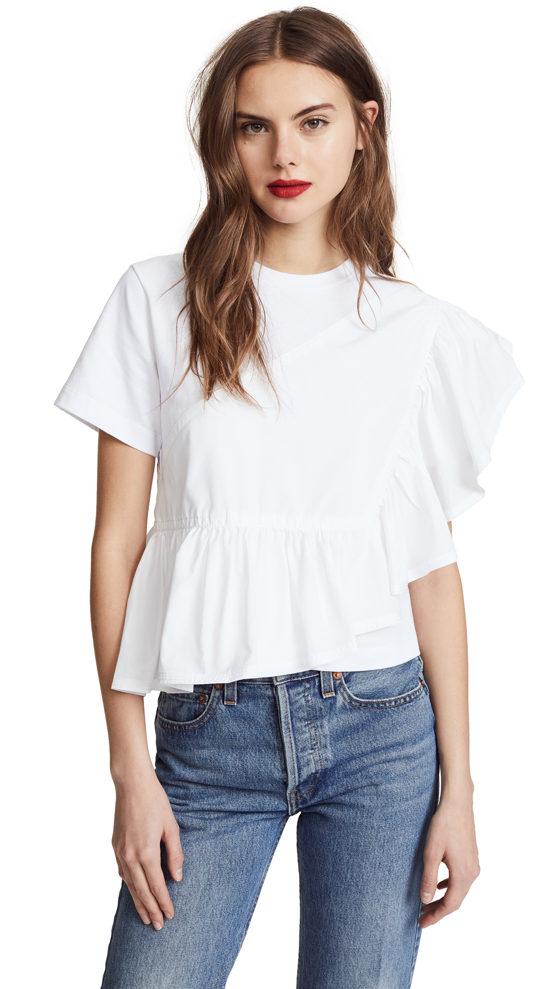 3.1 Phillip Lim Flamenco Tee In White  c6b5f71c0
