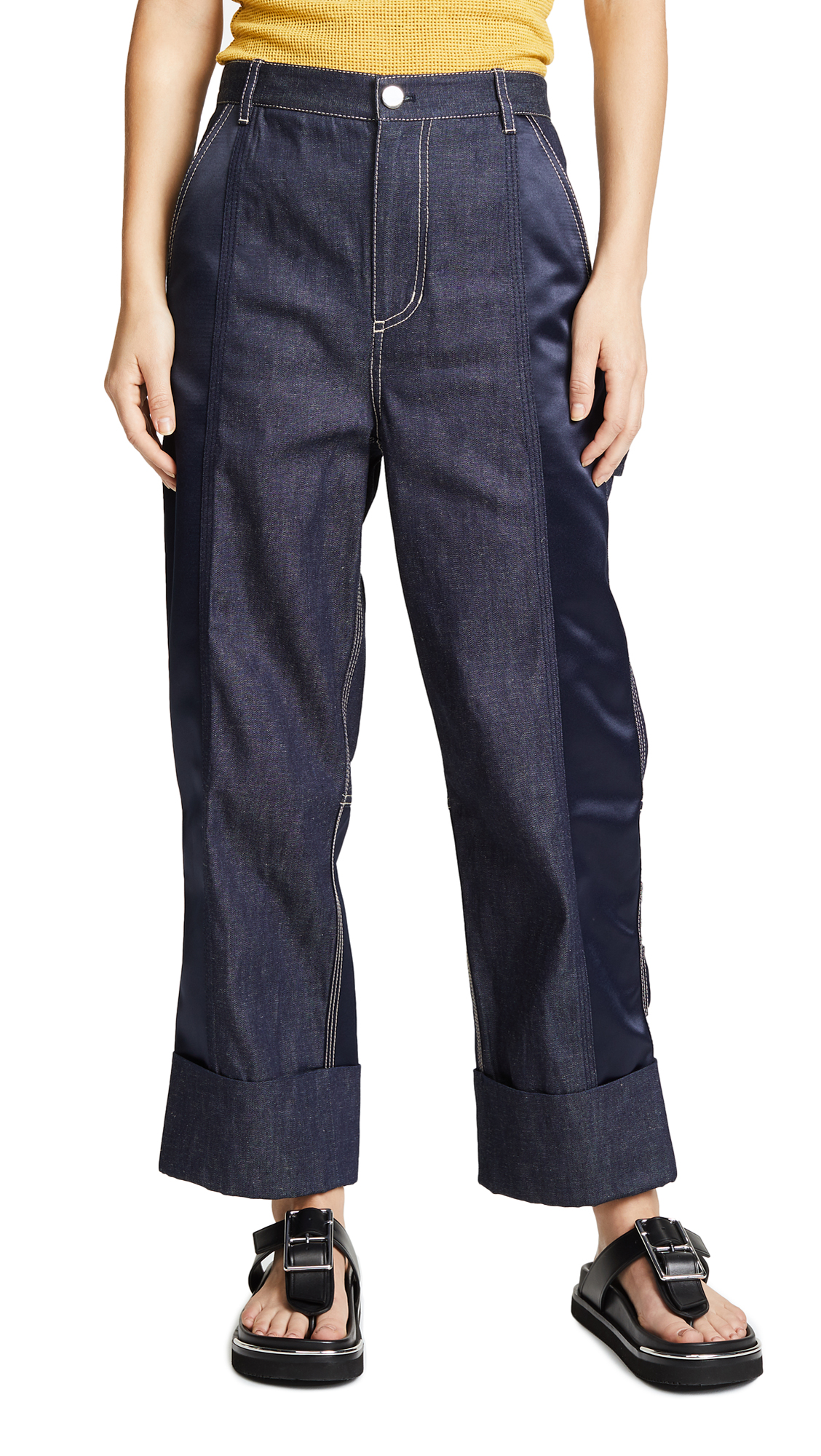 3.1 Phillip Lim Denim Cargo Pants
